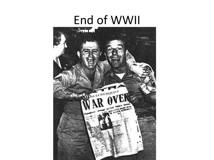 end of wwii n.
