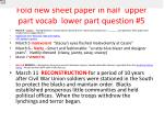 fold new sheet paper in half upper part vocab lower part question 5
