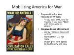 mobilizing america for war1