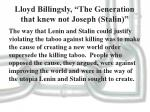 lloyd billingsly the generation that knew not joseph stalin