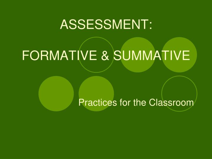assessment formative summative n.