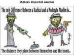 15 seek impartial sources