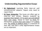 understanding argumentative essays