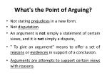 what s the point of arguing