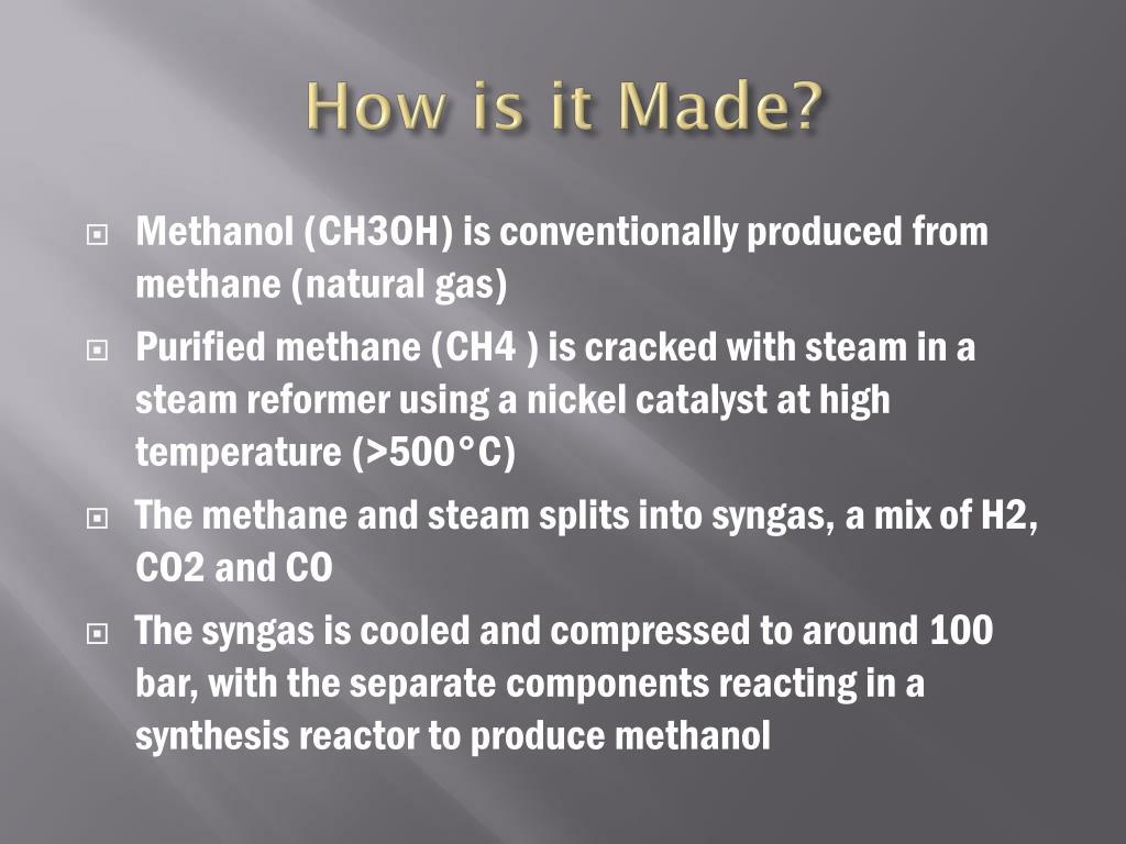PPT - Methanol/ biomethanol PowerPoint Presentation - ID:2232905