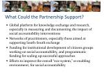 what could the partnership support