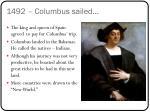 1492 columbus sailed