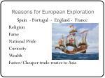 reasons for european exploration1