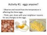 activity 1 eggs anyone