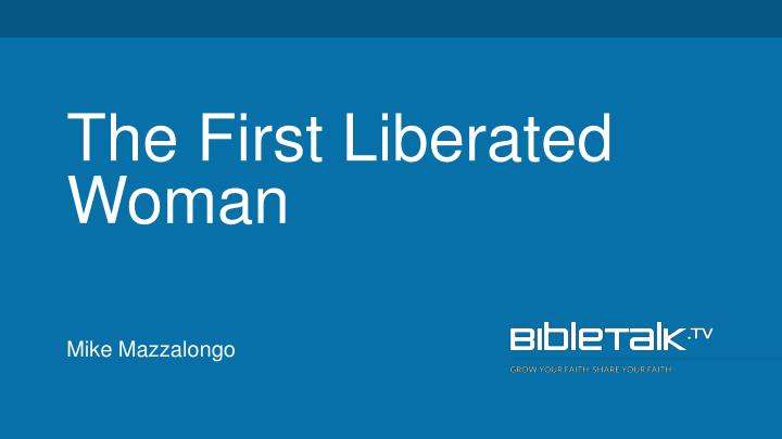 the first liberated woman n.