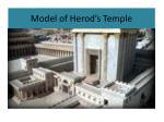 model of herod s temple