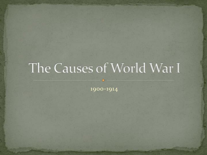 the causes of world war i n.