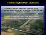 freshwater sediment diversions