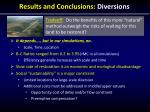 results and conclusions diversions