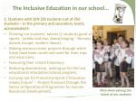 the inclusive education in our school5