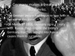 germany makes a treaty with bolsheviks