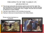 the effects of the taliban on afghanistan1