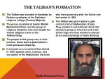 the taliban s formation