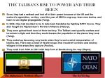 the taliban s rise to power and their reign1