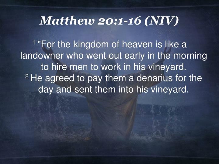 Matthew 20 1 16 niv