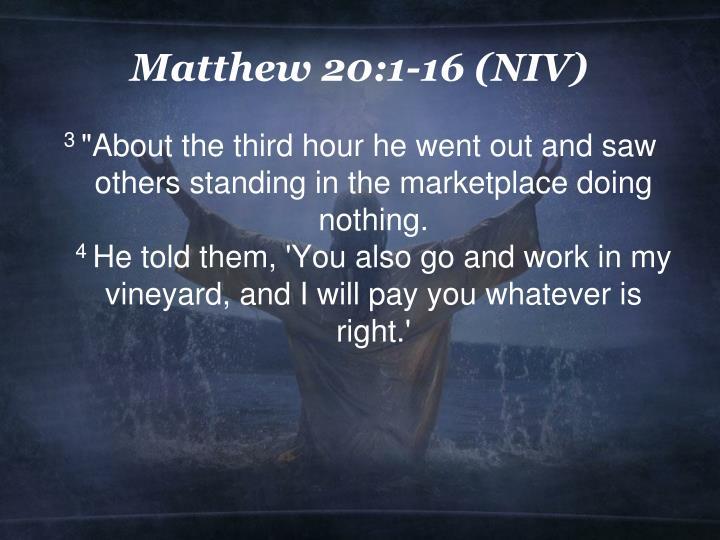Matthew 20 1 16 niv1