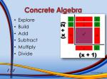 concrete algebra