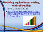 modeling equivalence adding and subtracting