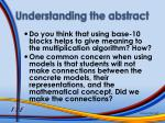 understanding the abstract