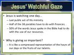 jesus watchful gaze