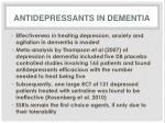 antidepressants in dementia