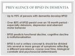 prevalence of bpsd in dementia