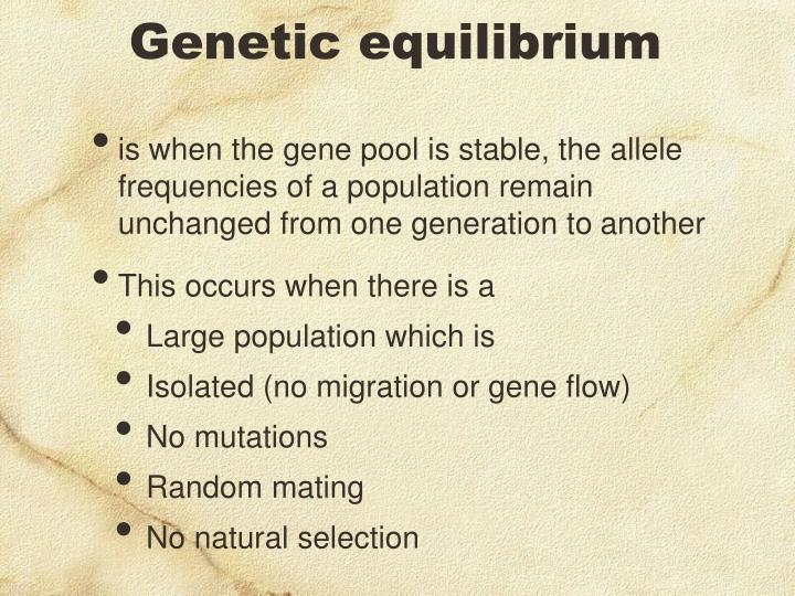 Genetic equilibrium