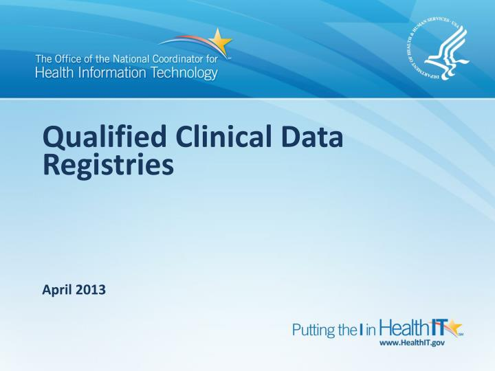 qualified clinical data registries n.