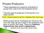 private producers