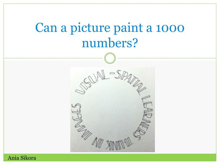 can a picture paint a 1000 numbers n.