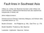 fault lines in southeast asia