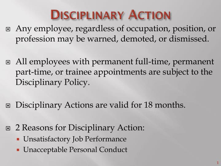 disciplinary action n.
