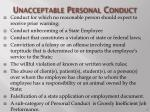 unacceptable personal conduct