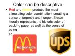 color can be descriptive