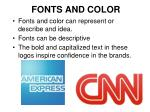 fonts and color