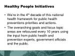 healthy people initiatives