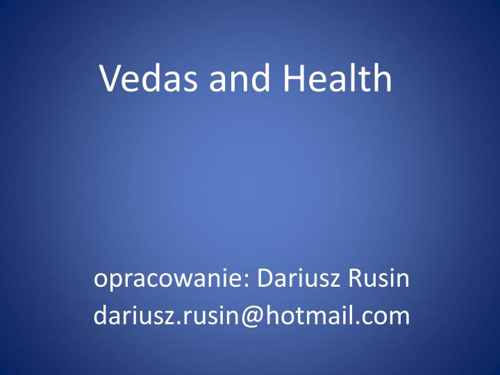 vedas and health n.