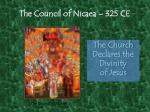 the council of nicaea 325 ce