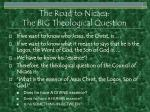 the road to nicaea the big theological question