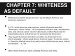 chapter 7 whiteness as default