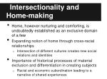 intersectionality and home making