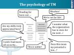 the psychology of tm