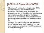 japan us role after wwii