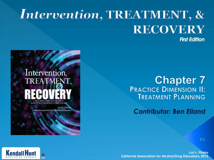 i ntervention treatment recovery first edition n.