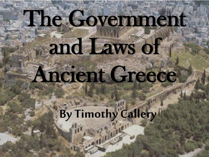 the government and laws of ancient greece n.